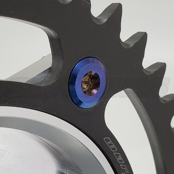 KTM Titanium Sprocket Bolt close up