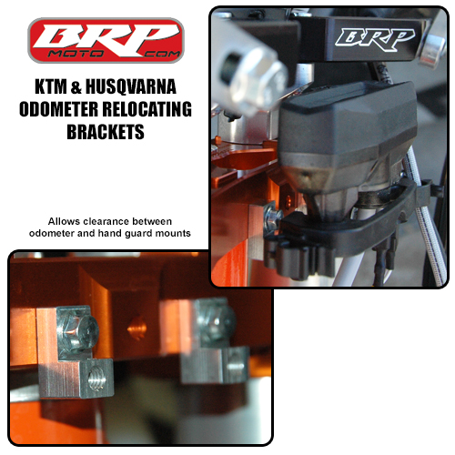 BRP Odometer Relocating Brackets for KTM, Husqvarna